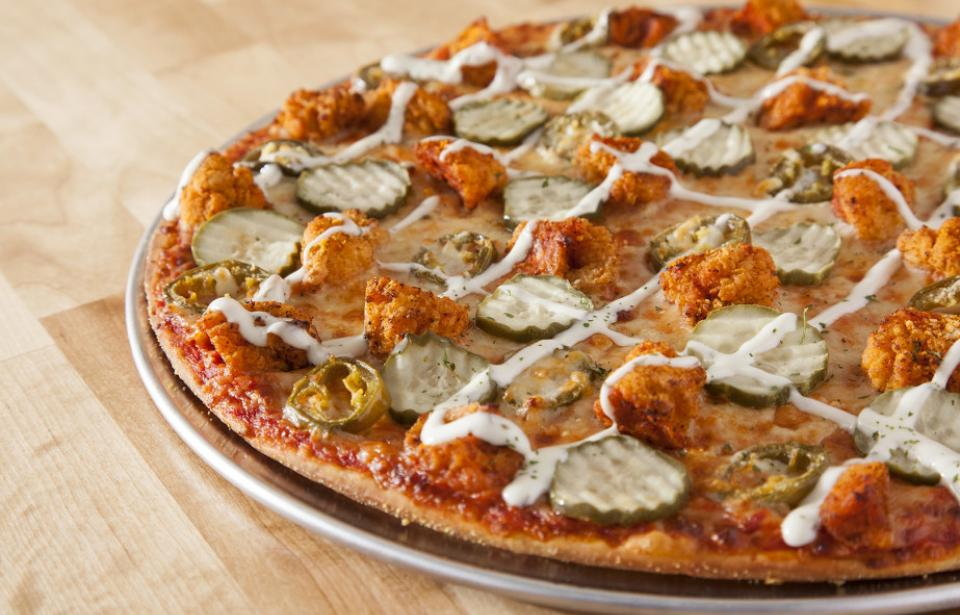 Hot Chicken Pizza - Try one of our Signature pizzas like our Hot Chicken Pizza. Pickles on pizza? Yes please!