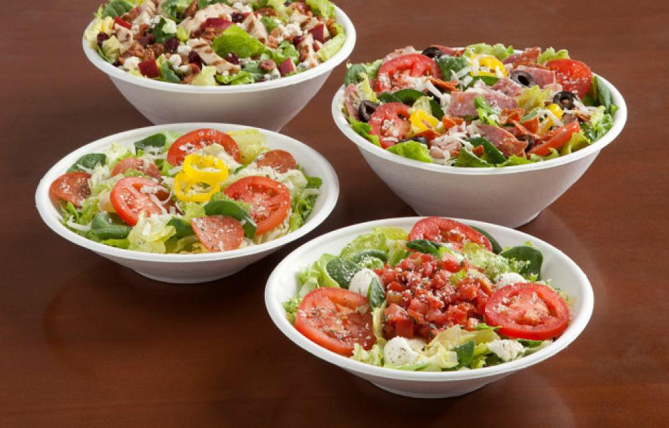 Salads - Looking for something lighter? Our salads are made with locally bought veggies that are cut fresh daily.