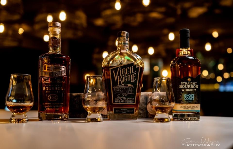 Bourbon Flight - With over 40+ Bourbons, try a flight.