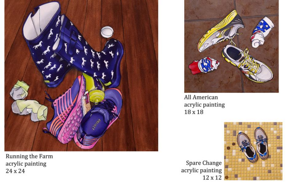 A Mile in My Shoes series - Gallery 209 has these originals and more from Lisa Rosenmeier's A Mile in My Shoes series.
