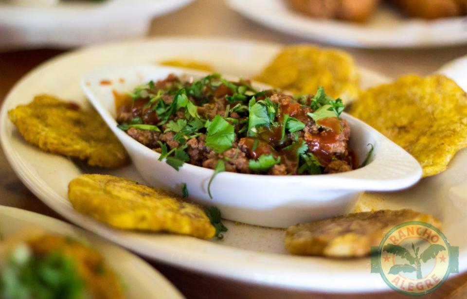 Appetizers - Picadillo Creole Beef and Tostones