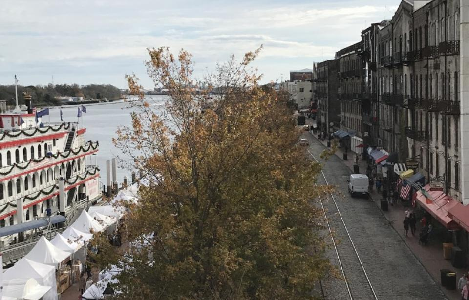 River Street - Always a stop on our All Things Savannah walking tour of Savannah's Historic District!