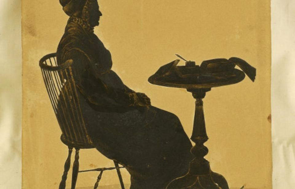 Silhouette of Susannah Clark - The Davenport House offers a glimpse of life in the port city in the early 19th century.