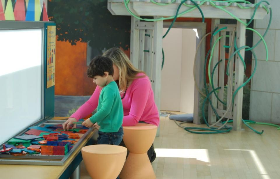 Mother and child in ArtZeum - Mother playing with son in artzeum kids space