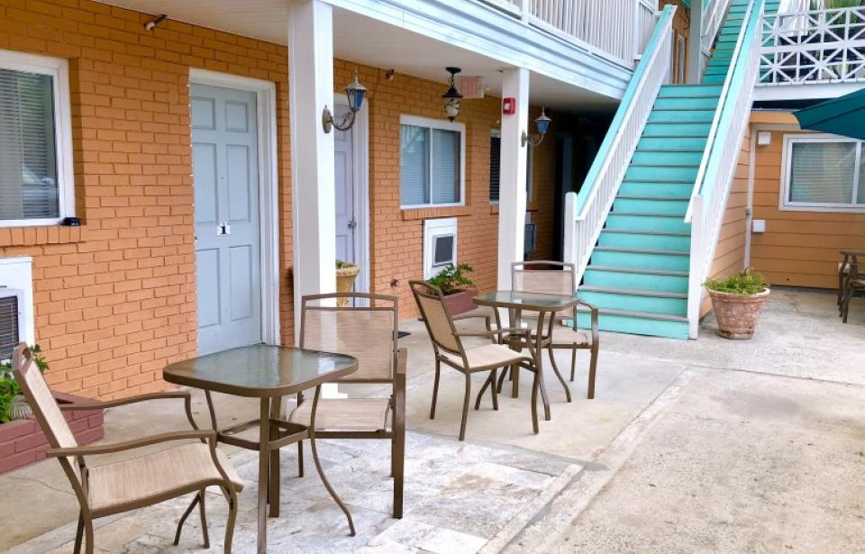 Outside Seating - Our comfy outdoor bistro set in the middle of our propoerty