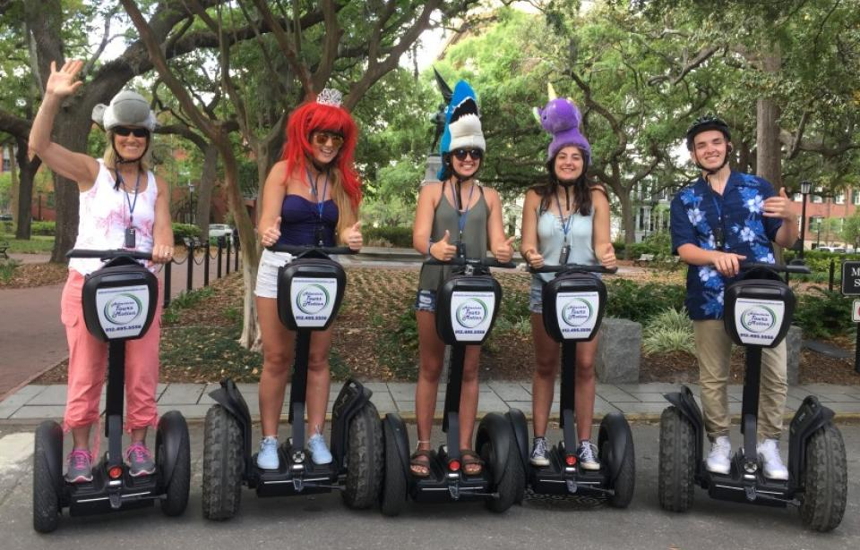 Adventure Tours in Motion - Segway Tours throughout Historic Savannah, Tybee Island and Boneventure Cemetery.