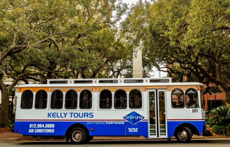 Kelly Tours Trolley - Air conditioned trolley tour of Historic Savannah.