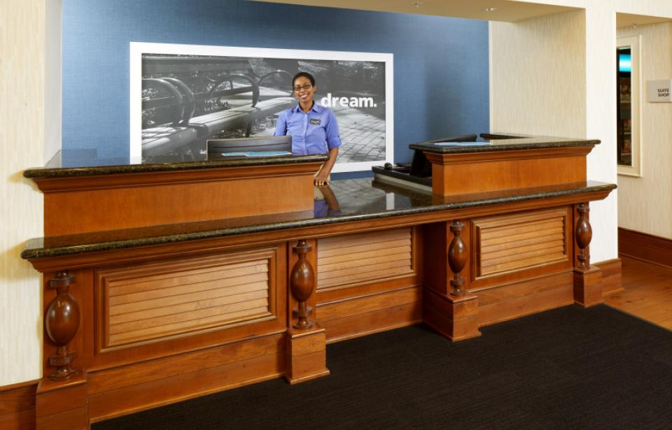 Front Desk - Our warm and friendly front desk agents are ready to greet you.