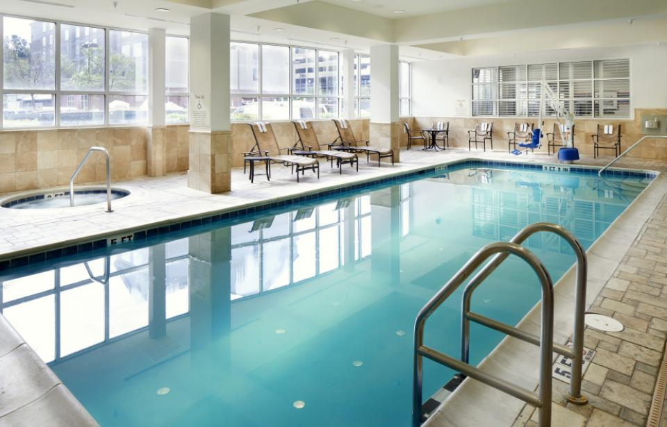 Indoor Pool - After a long day, relax with a dip in our heated indoor pool.