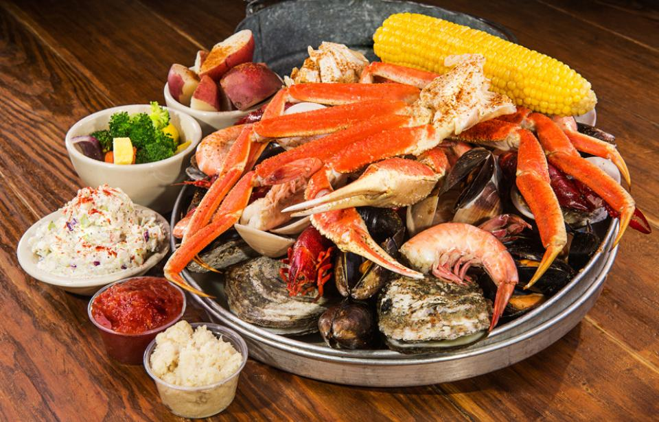 Steamed Shellfish Platter - All of our steamed seafood in one dish! YUM!