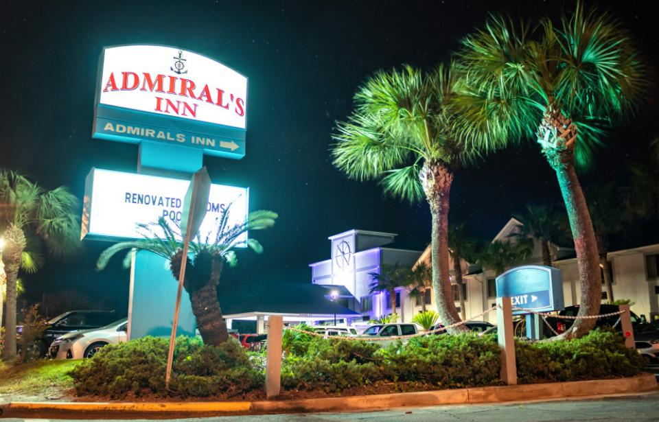 Admiral's Front Sign