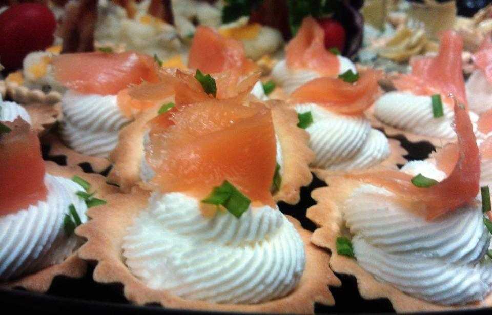 Smoked Salmon and Goat Cheese Tartlets