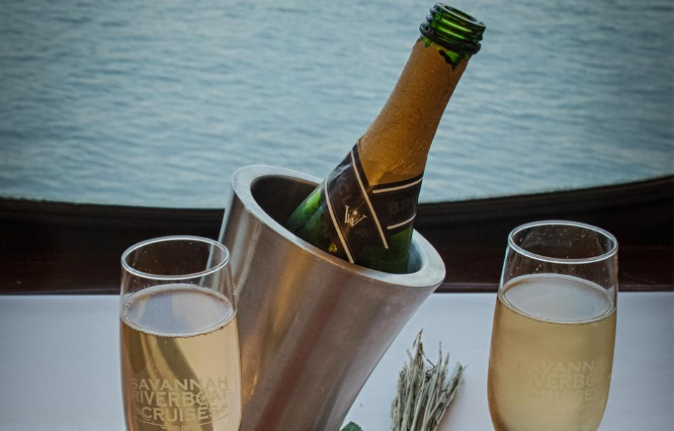 Champagne celebrations aboard Savannah Riverboat Cruises