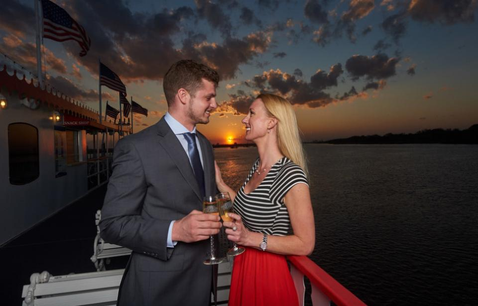 Romantic Sunsets - Couple on Savannah Riverboat Cruises