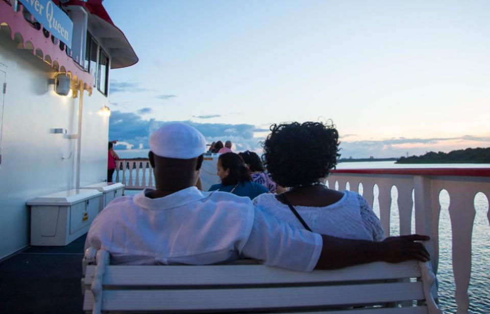 Sunset Cruise - Couple aboard Savannah Riverboat Cruises