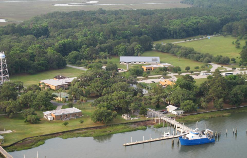 Skidaway Campus Aerial - An aerial view of the UGA Skidaway Institute of Oceanography