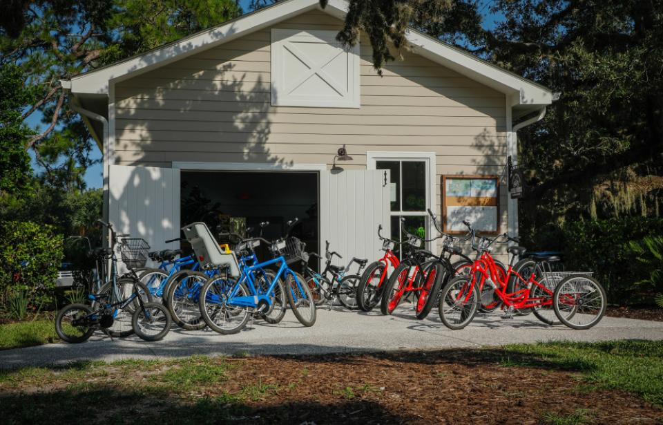 Our new bike shop, Jekyll Wheels, has bikes rentals for everyone.