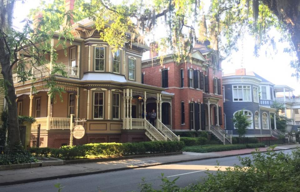 Victorian Homes - homes along Forsyth Park