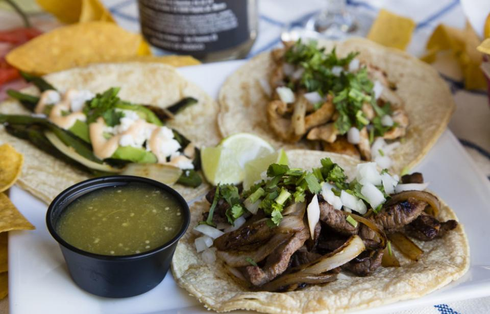 Street-style Tacos - Tequila's Town offers 10 different street style tacos on their daily menu.