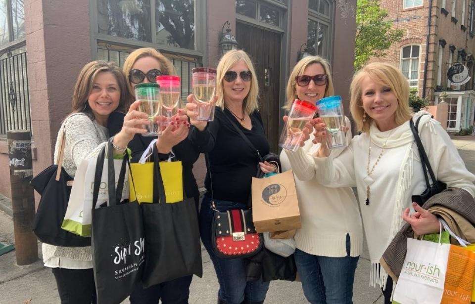 Sip n' Shop Savannah Tours - Cheers to shopping in Savannah!