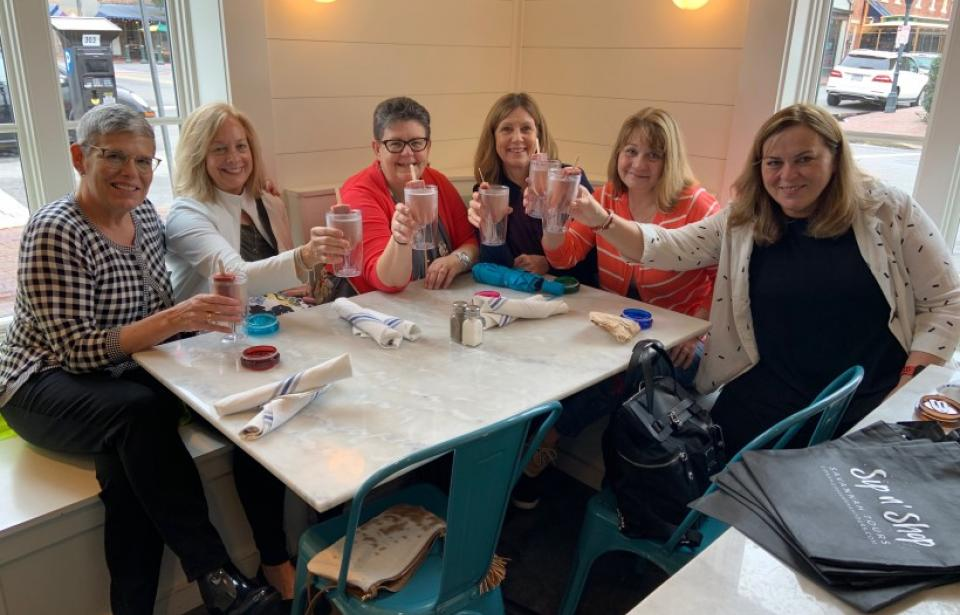 Sip n' Shop Savannah Tours - Cheers to The Grove for delicious champagne pops!