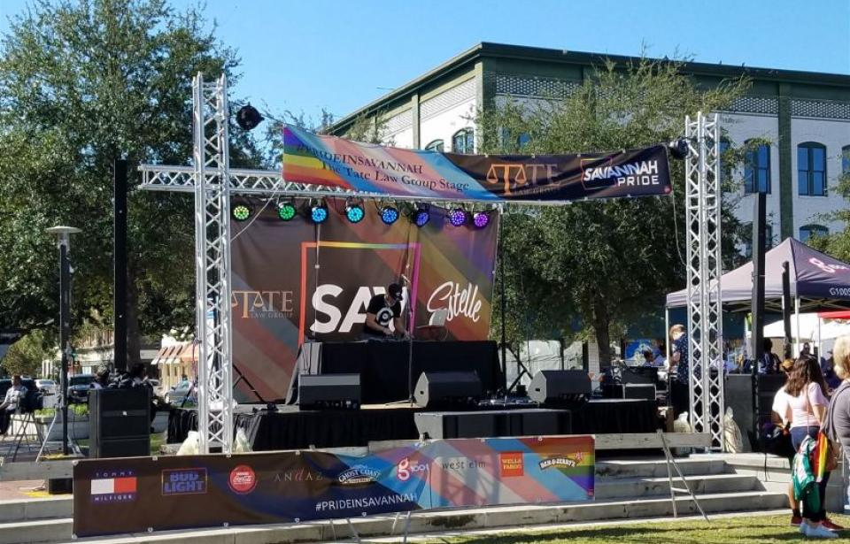 Savannah Pride Fest - We do a variety of work from installs to live events!