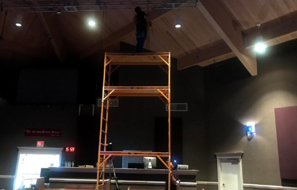 Sanctuary Lighting Install - The Sanctuary Savannah had a lighting system that had phased out of production. Our team came in, mapped out a plan that fit their budget and voila!