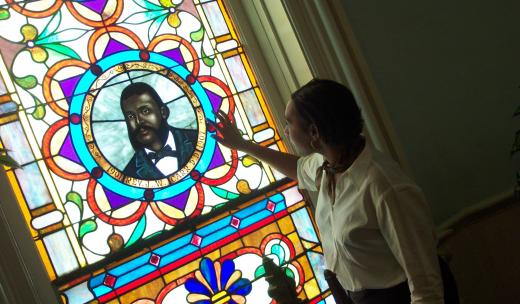 Stained Glass at Savannah's First African Baptist Church