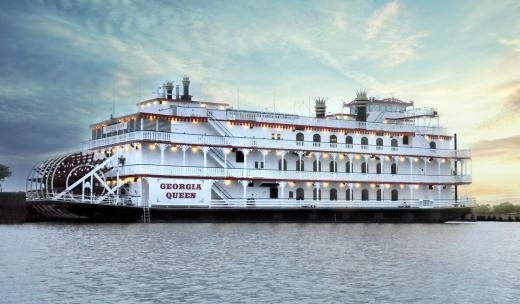 Delight in the Georgia Queen, one of Savannah's grand riverboats