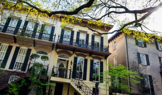 Homes in Savannah's Historic District