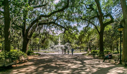 Forsyth Park is a popular place to visit in Savannah, Georgia.