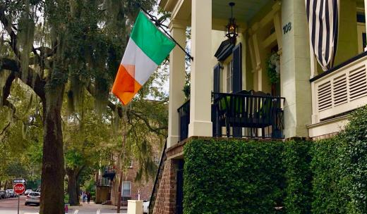 irish flags jones street savannah